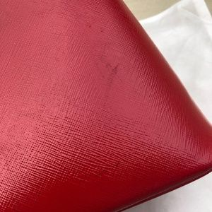 Prada Bags - Saffiano Promenade Large Red Calfskin Leather